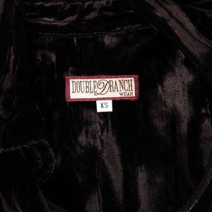 Double D Ranch Tops - Double D Ranch Brown Crushed Velvet Shirt Jacket